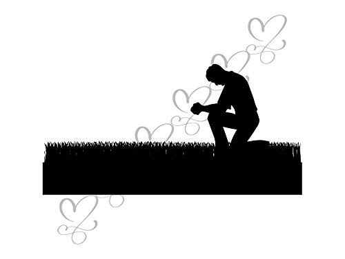 Yetta Quiller Man Praying Asking God Bible Grace Catholicism Christianity Concepts Men Hand Holding Home Decor Clipart Vinyl Sticker -