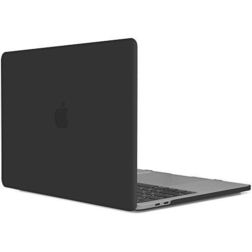 iDOO MacBook Pro 13 Case 2017 & 2016 Release A1706/A1708 ,Matte Soft Touch Plastic Hard Case for New MacBook Pro 13 Inch with/without Touch Bar-Black (Assembly Trackpad)