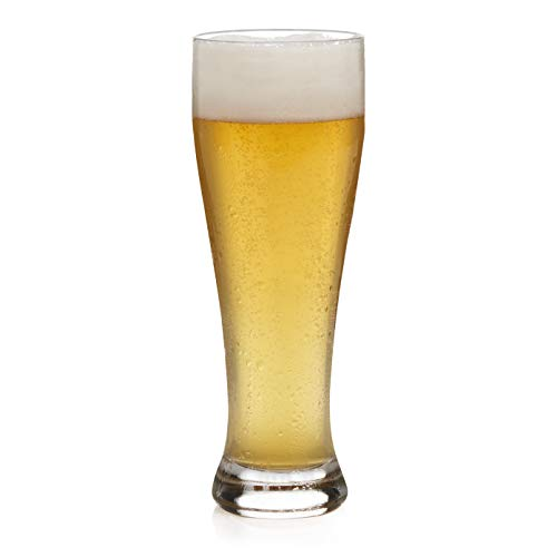 (Libbey Giant Wheat Beer Glasses, Set of 6)