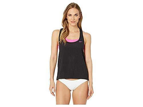 Nike Women's Sport Mesh Layered Tankini Black Medium