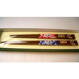 おしゃれな寄木細工の夫婦箸