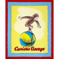 Buy curious george fabric panel