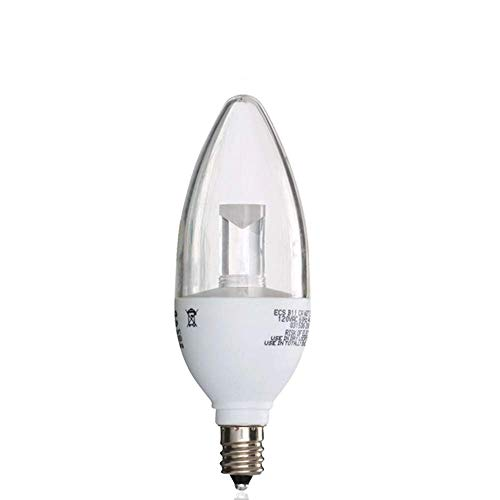 Led Chandelier Bulbs Dimmable, Soft White, 25 Watt Equivalent, Candle Base, B11 Clear, (12 Pack)