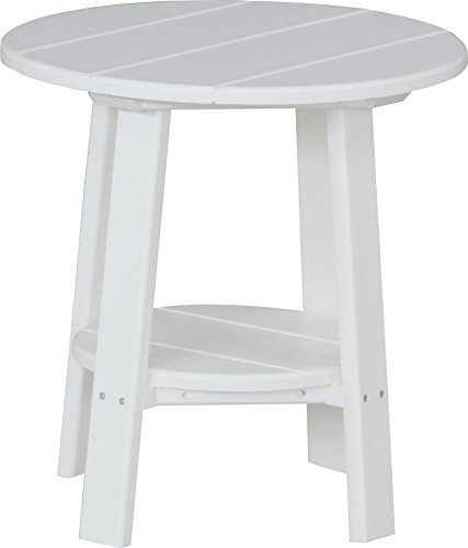 (Furniture Barn USA Outdoor Deluxe End Table - White Poly Lumber - Recycled Plastic)