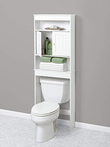 Zenna Home Cottage Over-The-Toilet Bathroom Spacesaver, 3 Shelf, White