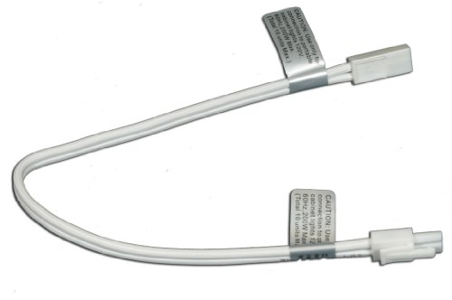 American Lighting ALLVPEX12WH Xenon 120 Volt Puck Light, 12-Inch Linkable Extensions, White ()