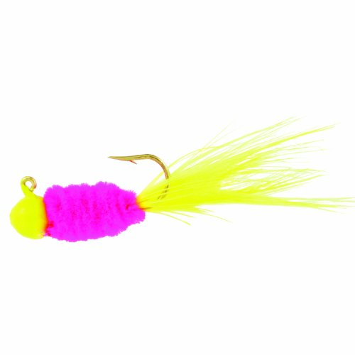 Blakemore TTI Fishing Co Mr Crappie Slab Daddy Hook-Pack of 3 (Lime/Chartreuse/Lime, 1/16 (Crappie Fishing Jigs)