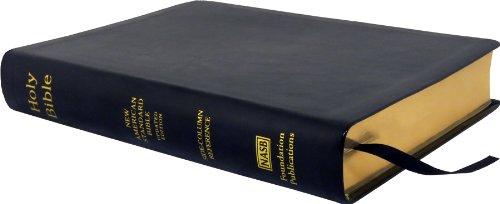 erence Wide Margin Bible; Black Leathertex ()