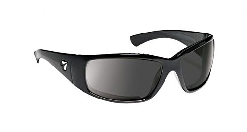 7eye Taku Men's AirDam Active Sunglasses/Eyewear - Matte Black/SharpView Gray PC/One Size Fits All