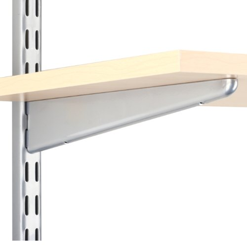 Knape & Vogt John Sterling Dual Trak Adjustable Wood Shelf Bracket, 11-Inch, Platinum, 0122-11PM (Adjustable Shelf Brackets)