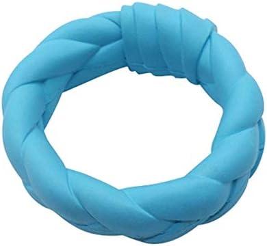 犬のホリデーギフト おもちゃの犬、ゴム製の噛む犬のおもちゃ、指輪トレーニング用の歯の犬のおもちゃのクリーニング トラブルと喜びを減らす (Color : L, Size : L)