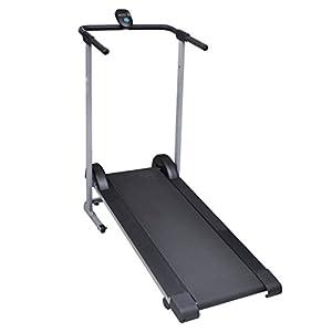 vidaXL Folding Manual Treadmill Running Machine Cardio Fitness from vidaXL