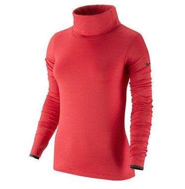 NIKE Langarm Shirt Pro Hyperwarm Infinity - Calzado de botas de senderismo para mujer ACTION RED/DARK ASH/DARK ASH
