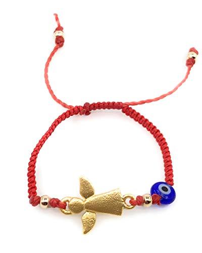 Newborn Bracelets evil eye - Mal de Ojo Guardian Angel Baby Protection Adjustable Red String Bracelet