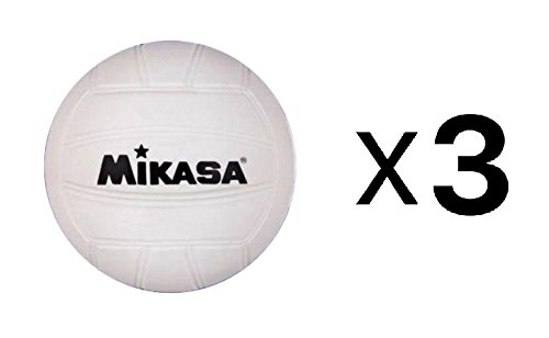 Mikasa 10cm Mini Volleyball, Soft Cover, White, For Dorm Or Office (3-Pack) B01M0M4HJ9