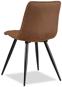 Liv&Giv Set of 2 Dining Chairs Jamy Cognac - Industrial Bucket Chair