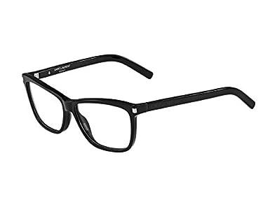 Amazon.com: Yves Saint Laurent anteojos SL 42 0807 negro 56 ...