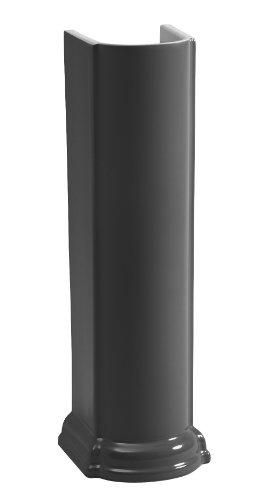 24' Lavatory Basin - Kohler K-2288-7 Devonshire Pedestal Only, Black Black