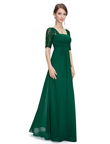 Ever-Pretty Damen Empire Kleid grün 34