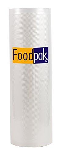 FoodPak Large 11x50 Roll Commercial Grade Vacuum Sealer Food Saver for Storage Packaging Sous Vide BPA free