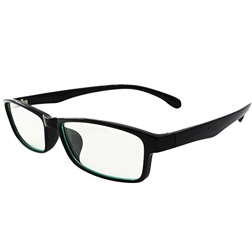 YJWB Computer Readers Reading Glasses in Ergonomic Memory Frame UV Protection,Anti Blue Rays,Anti Glare and Scratch Resistant Lens for All Digital Screens Computer and game glasses +0.00 Magnification