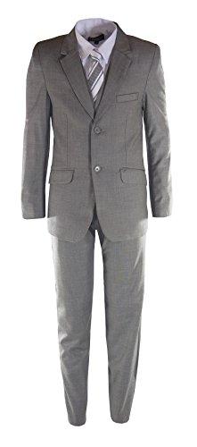 Raphael Boys Formal 2 Button Designer Suit - 3 Colors Available (Boys 6, Heather ()