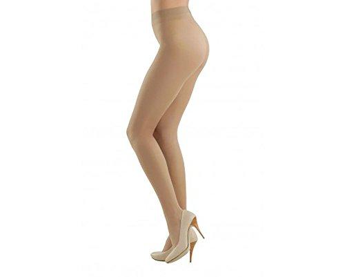 - Conte Prestige Women's Silky Sheer Matte Pantyhose Tights 12 Denier - Beige, Large