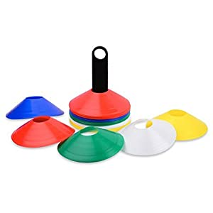 Multi Colored Disc Cones with carrier (Set of 50)