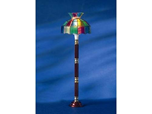 Melody Jane Dollhouse Standard Floor Lamp Multi Coloured Miniature Electric
