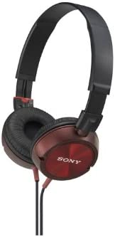 Sony MDRZX300RED MDR-ZX300 RED MDR-ZX300 RED ZX Series Stereo Headphones Red