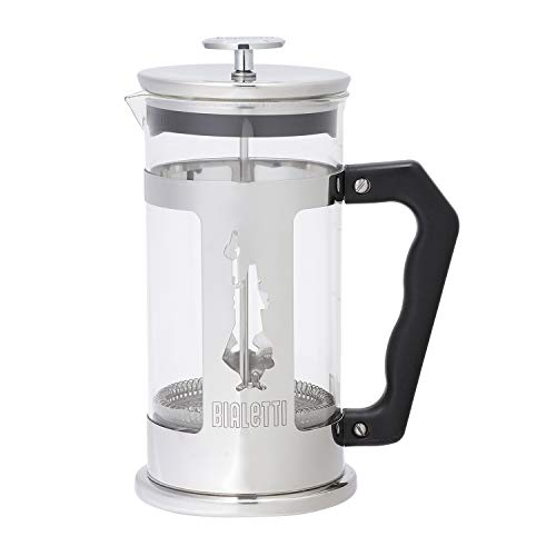 Bialetti French Press Vidrio - french presses (Vidrio, Vidrio, Acero inoxidable, Negro, Plata, Transparente)