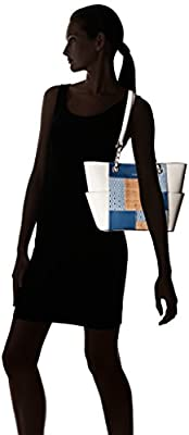 Calvin Klein Key Item Chain Patchwork Tote