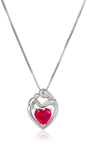 Sterling Mothers Created Gemstone Necklace