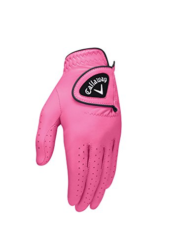 (Callaway 2016 Opticolor Glove Ladies Left Pink Medium)