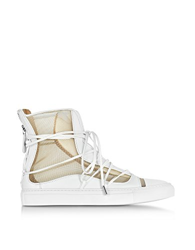 DSQUARED2 Women's S17k5081193m1169 White Leather Hi Top (Dsquared2 White Leather)
