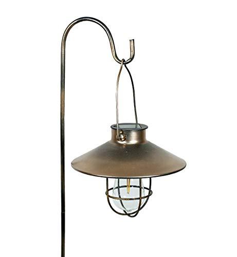Echo Valley 4522PK2 EDI-Sol Marine Pendant Solar Lantern with Shepherd's Hook, Antique Copper (Pack of 2)