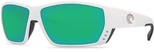 Costa Del Mar Tuna Alley 580G Tuna Alley, White Green Mirror, Green Mirror