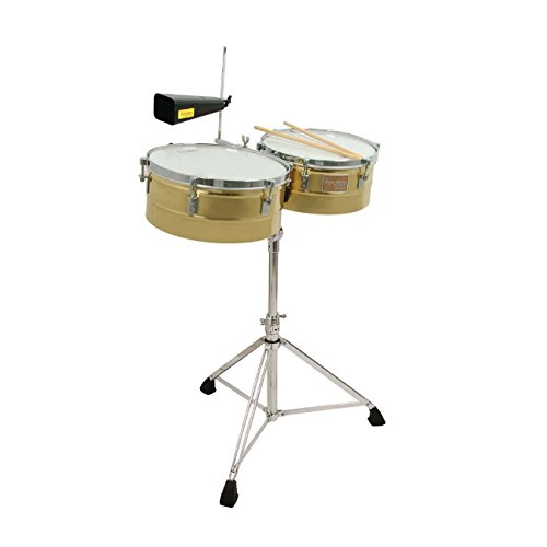 Tycoon Percussion TTI-1415 BRS Brass Shell Timbales 14″ & 15″ by Tycoon Percussion