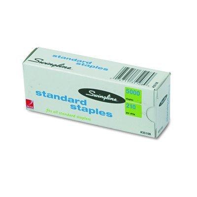 Swingline S.F. 1 Standard Economy Chisel Point 210 Full Strip Staples - 5,000 per Box (Pack of 2) ()