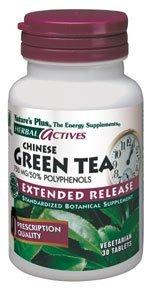 Actives à libération prolongée à base de plantes thé vert 750 mg Plus 30 Tabs est la nature