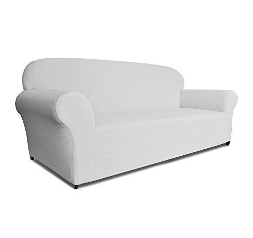 DyFun 1-Piece Knit Spandex Stretch Dining Room Sofa Slipcovers (Sofa, White)