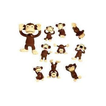 Amazoncom Monkey Figures Tiny Plastic Monkey Figures - Monkey knows how to operate vending machine