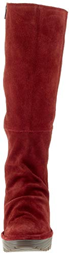Para Mujer Rojo London Fly wine 037 Yust Botas q7C6vwa