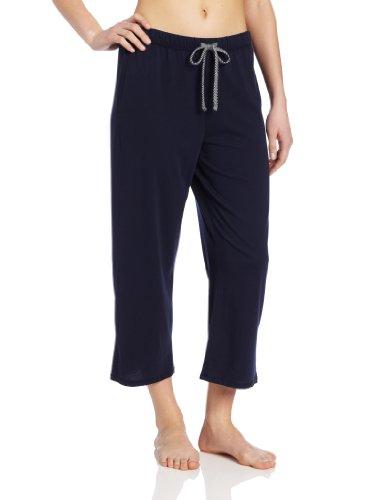 Nautica Sleepwear Women's Knit Jersey Capri Pant, Maritime Navy, X-Large