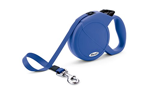Flexi Durabelt Retractable Belt Dog Leash, Large, 16-Feet Long, Supports up to 150-Pound, Blue