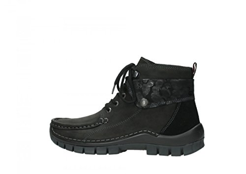 59000 Wolky Womens 3204 Black Leather Sandals Leather Jewel wUCw6