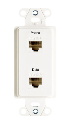Legrand - On-Q WP3220WH PreConfigured 2Port Strap, Phone/Data, White