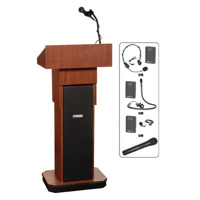(AmpliVox SW505 Executive Sound Column Lectern Wireless 43