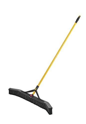 Rubbermaid Commercial Products Maximizer Push-to-Center Broom with Fine Bristle, 36