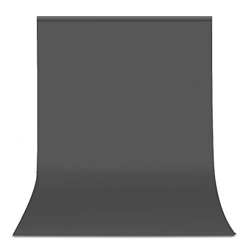 Portrait Pedestal Grey - UTEBIT 6x9 Ft Grey Photography Backdrop Polyester Solid Color 1.8 x 2.8m Photo Chromakey Backdground Cloth Wrinkle Resistant for Video Studio Pictures Gray Portrait Backdrops (Stand Not Included)